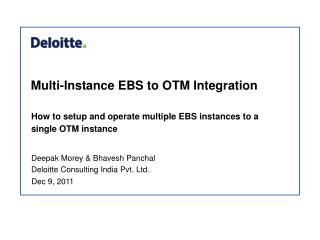 Multi-Instance EBS to OTM Integration