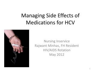 Managing Side Effects of Medications for HCV