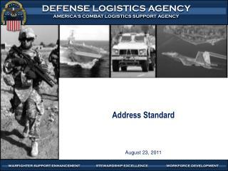 Address Standard August 23,  2011