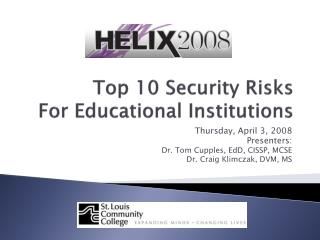 Top 10 Security Risks  For Educational Institutions