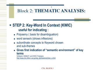 :  block 2: thematic analysis: