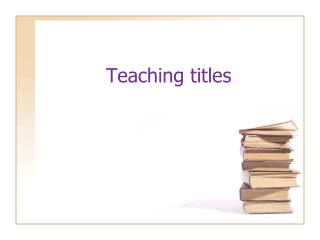 teaching titles