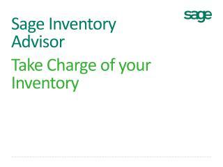 Sage Inventory Advisor