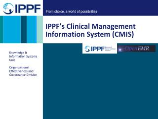 IPPF's Clinical Management Information System (CMIS)