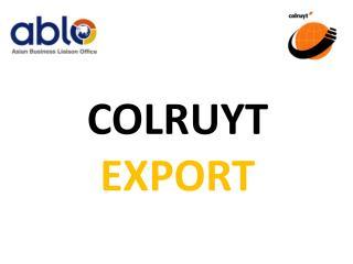 colruyt export