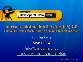Internet Information Services (IIS) 7.0 End-to-End Overview of Microsoft's New Web Application Server