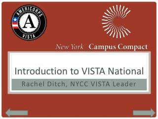 Introduction to VISTA National
