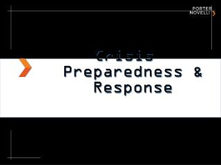 Crisis Preparedness & Response
