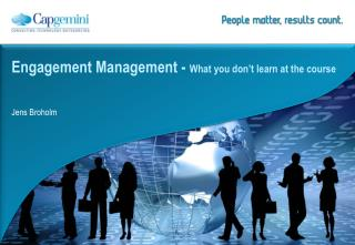 Engagement Management -  What you don't learn at the course