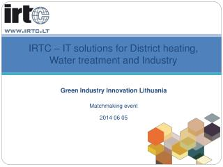 IRTC – IT solutions for District heating, Water treatment and Industry