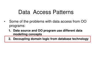 jdbc and data access objects