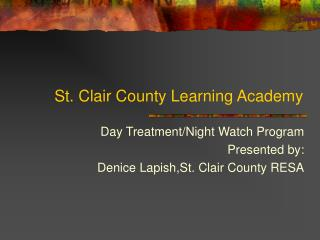 st. clair county learning academy