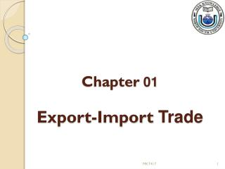 Chapter  01 Export-Import  Trade