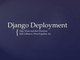 Django Deployment