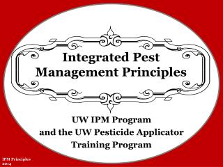Integrated Pest Management Principles