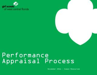 Performance Appraisal Process November 2011 – Human Resources
