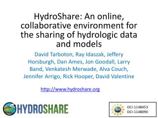HydroShare: An online, collaborative environment for the sharing of hydrologic data and models