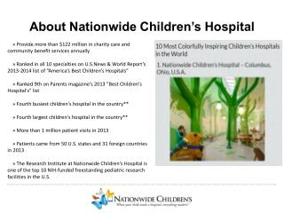 About Nationwide Children's Hospital