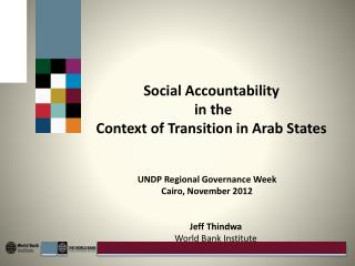 Social Accountability  in the  Context of Transition in  Arab States