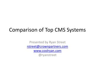 Comparison of Top CMS Systems