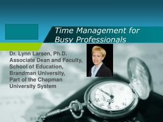 Time Management for Busy Professionals