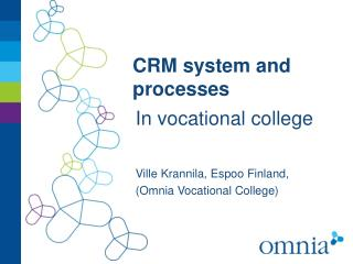 CRM  system  and  processes