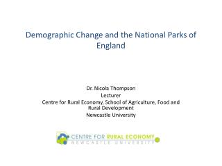Demographic Change and the National Parks of England