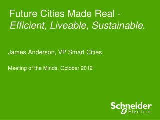 Future Cities Made Real - Efficient, Liveable, Sustainable .