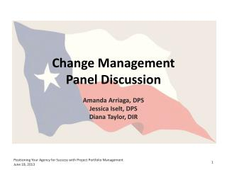 Change Management Panel Discussion