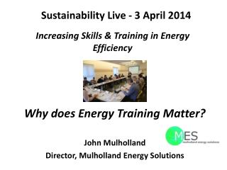 Sustainability Live - 3 April 2014