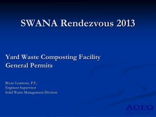 SWANA Rendezvous 2013