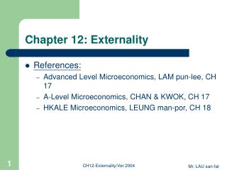 chapter 12: externality
