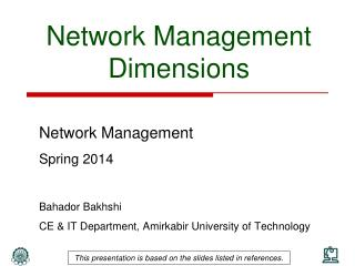 Network Management Dimensions