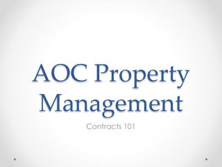 AOC Property Management
