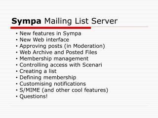 Sympa  Mailing List Server