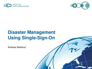 Disaster Management Using Single-Sign-On
