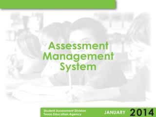 Updates to the Texas Assessment Management System User's Guide for TAMS Unlock User Function User Account Updates Train