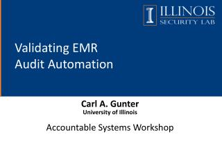 Validating  EMR  Audit  Automation