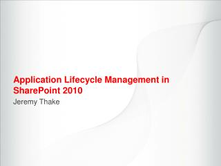 Application Lifecycle Management in SharePoint  2010