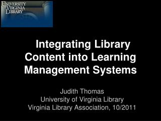 Integrating Library Content into Learning Management Systems