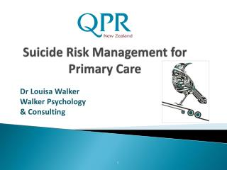 Suicide Risk Management for Primary Care