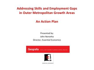 Addressing Skills and Employment Gaps  in  Outer Metropolitan Growth  Areas An Action Plan