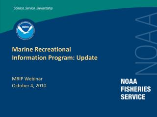 Marine Recreational Information Program: Update