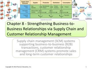 Chapter 8 - Strengthening Business-to-Business Relationships via Supply Chain and Customer Relationship Management