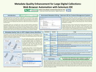 Digital Library Workflow Modified for Descriptive Metadata Normalization.