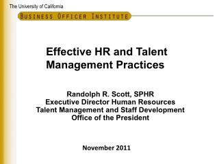 Effective HR and Talent Management Practices