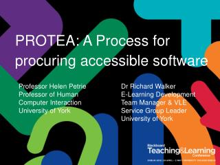 PROTEA: A Process for procuring accessible software