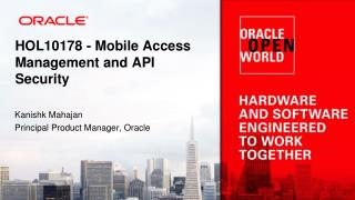 HOL10178 - Mobile Access Management and API Security