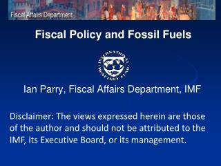 Fiscal Policy and Fossil Fuels