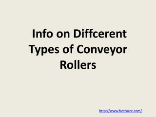 Info on Diffcerent Types of Conveyor Rollers